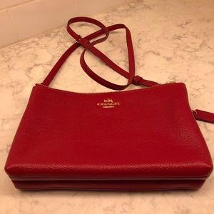 Red Coach Bag
